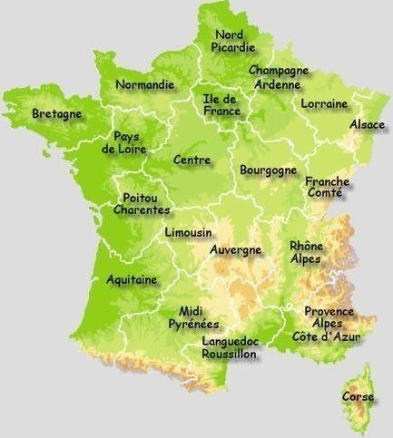 La carte des villages de france - Region la plus sure de france ...
